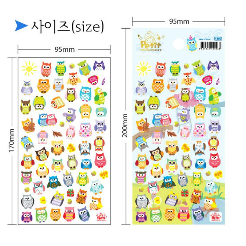 Купить с кэшбэком 2pcsCreative Cute Cartoon Paper Children's Decorative Stickers DIY Decoration Notebook Stickers Student Stationery Giraffe/Owl