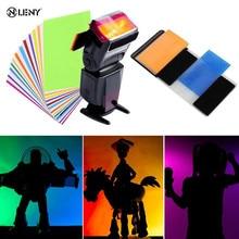 12 шт. цветная карта для Вспышка Strobist гелевый фильтр цветовой баланс с резиновой лентой светильник диффузор для Canon/Nikon для SONY