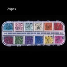 24Pcs Real Pressed Flower Annes Lace Dried Nail Art Resin Jewelry Making