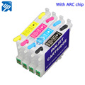 4pcs T0631 T0632 T0633 T0634  refillable ink Cartridge for epson C67 C87 C87PE CX4100 CX4700 CX3700 printer with auto reset chip