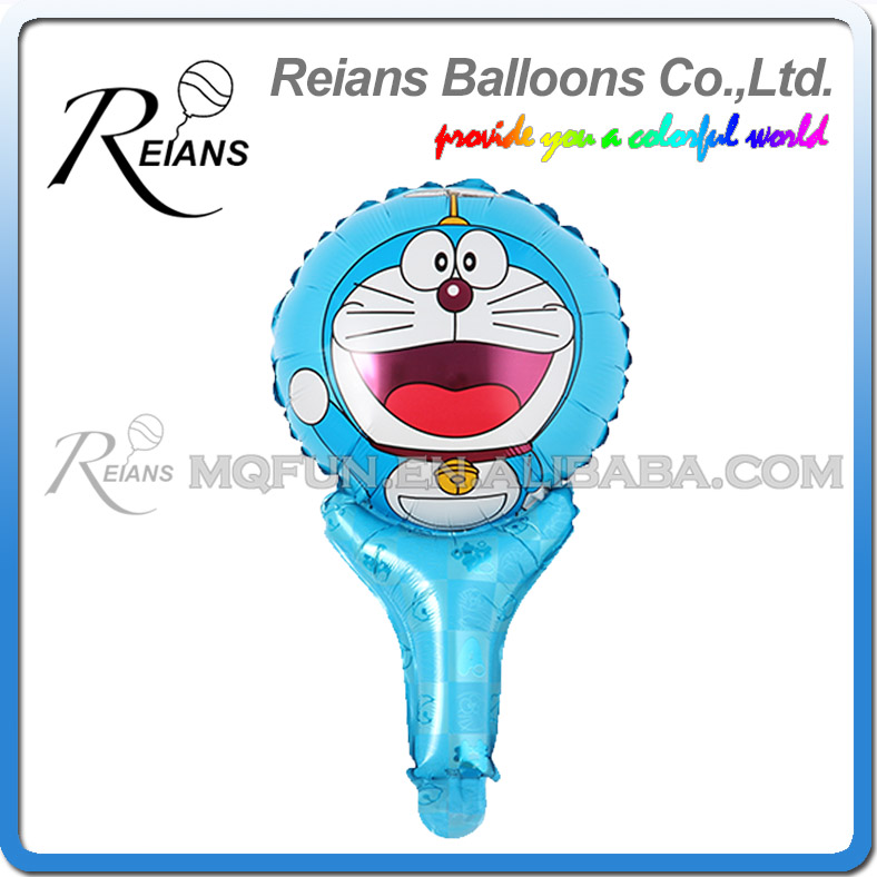 REIANS 51cm cute Anime cartoon Doraemon children kids handhold stick Party birthday aluminum foil air balloon Event toy gift