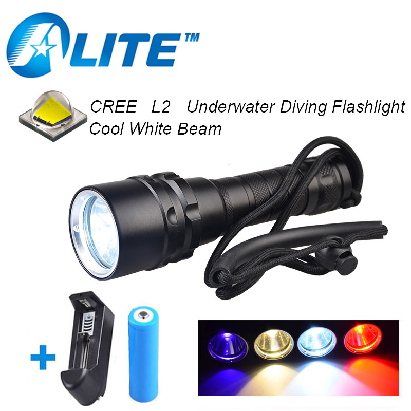 rechargeable 18650 battery 3w uv red yellow light 10w white led scuba diving torch under water flashlight white purple yellow light led flashlight stainless steel torch 18650 rechargeable uv torch olight jade identification href