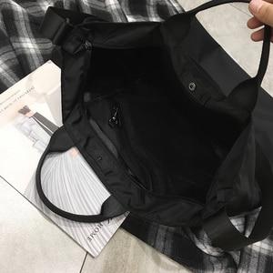 Image 5 - نايلون حقائب النساء الرجال حقيبة تسوق s قابلة لإعادة الاستخدام حقيبة تسوق اللون أسود أزرق