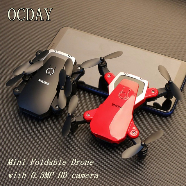Camera Drones Portable Flying Aircraft Durable Mini Foldable Drone With 0.3 Megapixel HD Camera 2.4G Altitude Hold RC Quadcopter