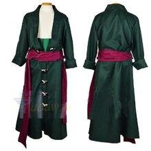 Anime roronoa zoro cosplay traje roupas conjunto completo feito sob encomenda