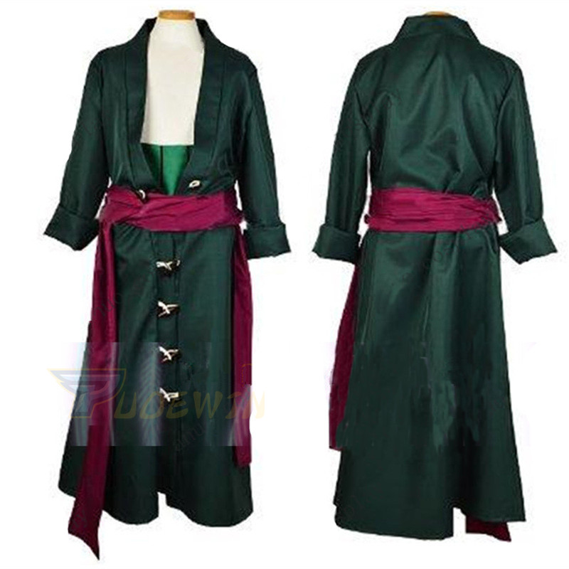 One Piece Roronoa Zoro Cosplay Costume Clothes Full Set Custom Made-in Anime Costumes from Novelty & Special Use