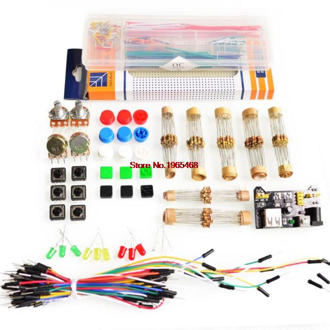 generic parts package For Arduin kit + 3.3V/5V power module+MB-102 830 points Breadboard +65 Flexible cables+ jumper wire box