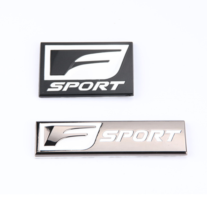1x 3D F SPORT Symbol Car Auto Body Side Rear Emblem Badge Sticker for Lexus ES GS NX IS Universal