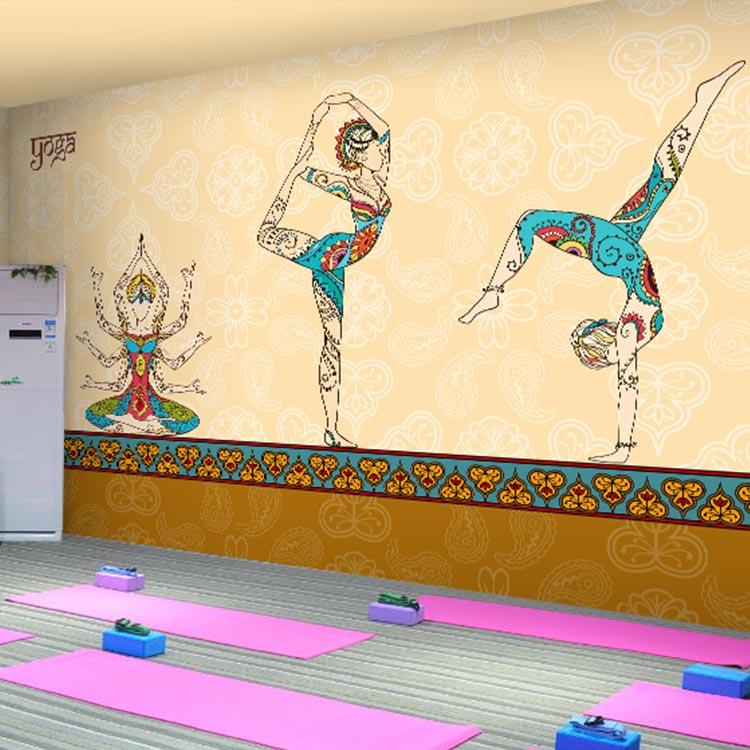 3D photo wallpaper Thai stereo 3D Yoga beauty buddha mural Gym Dance room Spa box wallpaper mural custom size photo customized 3d stereo sports wallpaper gym yoga basketball stadium playground wallpaper mural