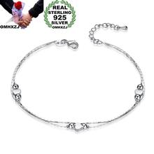 7cd3e762edc0 OMHXZJ al por mayor personalidad moda mujer regalo de corazón de plata  cadena fina joyería de la pulsera de la plata esterlina 9.