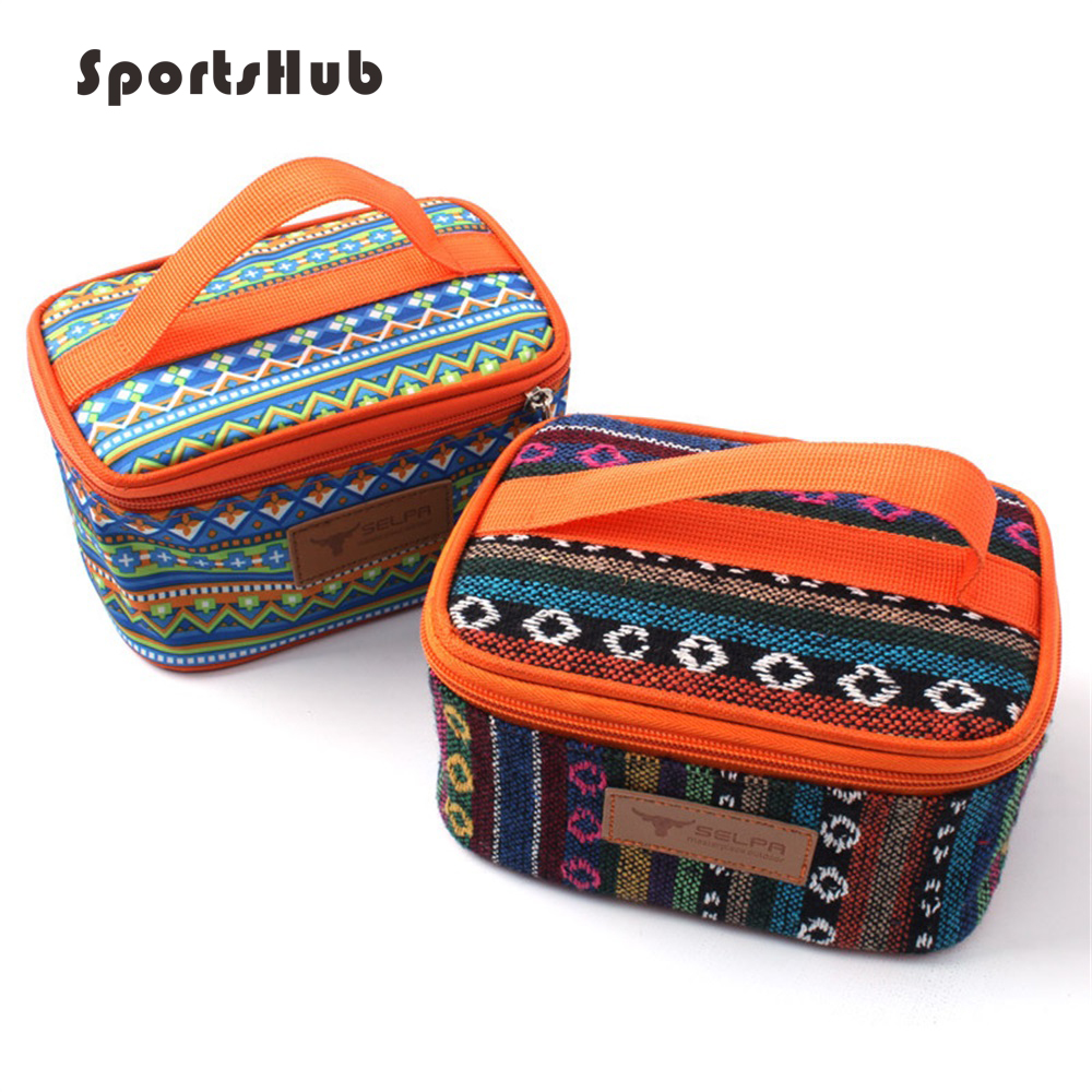 SPORTSHUB 17.5*12.5*10CM Ethnic Style Outdoor Thermal/Cooler Camping Picnic Bags Lunch Bags SES0038