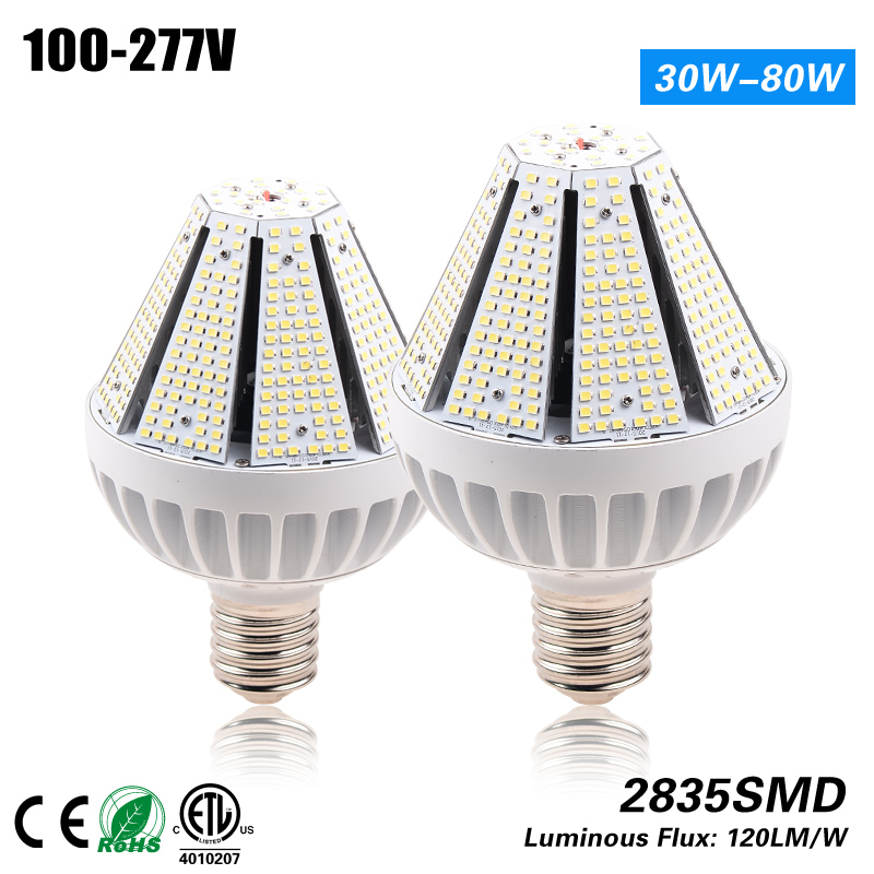 CE ROHS ETL listed E27/E40 Led 40w pyramid corn bulb for 175w HPS MH replacement 100-277VAC ce emc saa rohs gs ul listed commercial 100w commercial led pendant lights