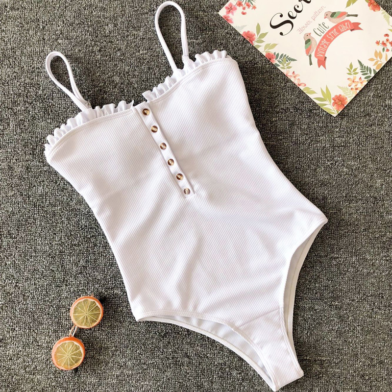 Swimsuit Swimwear Women One Piece Monokini Swimsuits Woman 2019 Bodysuit Closed Solid Swimming Suit For Women Ruffle Push Up PadSwimsuit Swimwear Women One Piece Monokini Swimsuits Woman 2019 Bodysuit Closed Solid Swimming Suit For Women Ruffle Push Up Pad