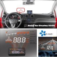 Car HUD Safe Drive Display For SEAT Ibiza 6L 6J SC MK3 MK4 2002 ~ 2015 - Refkecting Windshield Head Up Screen Projector