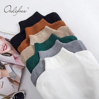 Ordifree למשוך Femme 2019 סתיו חורף קשמיר נשים סוודר סרוג בסוודרים חג המולד Jumper חם נשי גולף סוודר
