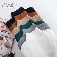 Ordifree 2017 Autumn Winter Jumper Women Pullover Knitted Sweater Knitwear Ladies Slim Long Sleeve Turtleneck Sweater