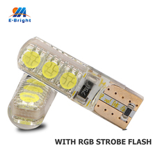 10 Pieces Car LED T10 194 W5W Canbus 6SMD 5050 Silicone shell Bulb No Error Led Parking Fog light Auto car-styling