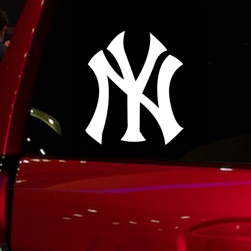 Yankees NY baseball game Auto Stickers for Car Truck Suv Decal 5.5 Car Window Decal Vinyl Die Cut Sticker White