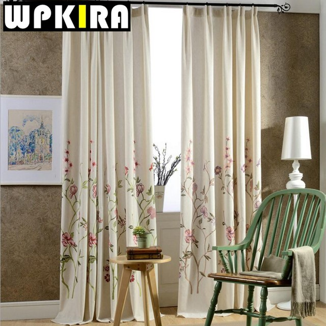 Blue Modern Window Curtains Embroidered Sheer White Curtains Tulle Green  Curtain Draperies Fancy Living Room Curtains