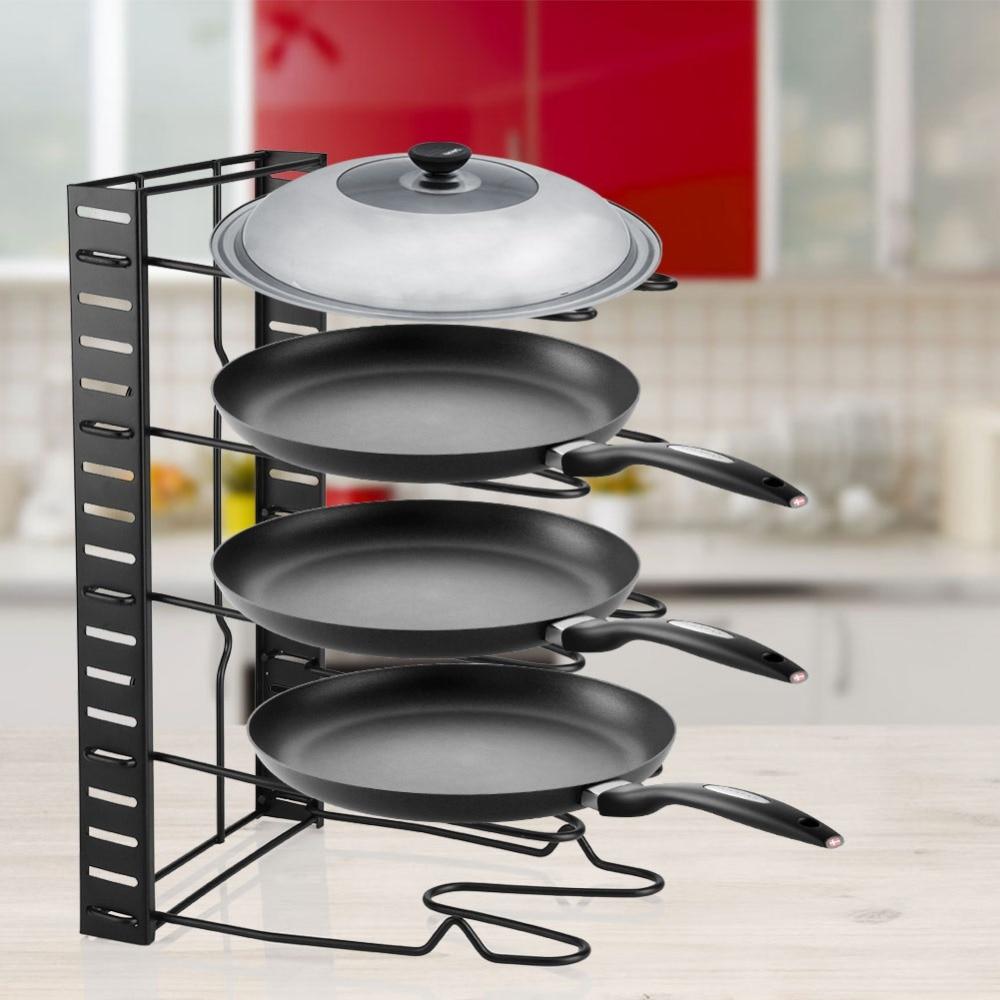 Multi Tiers Pot Kitchen Frying Pan Lid Storage Rack ...