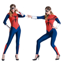 Sexy Adult Women's Spider Costume Cosplay Sexy Wonder Woman Superman Tight fitting Uniforms Temptation Halloween Costumes