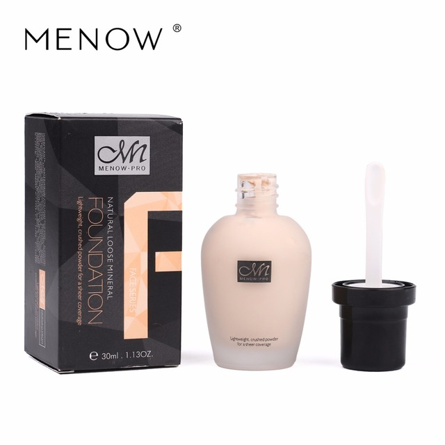 Menow Brand Waterproof Liquid Foundation Foundation Cream Moisturizing Concealer Cover Acne