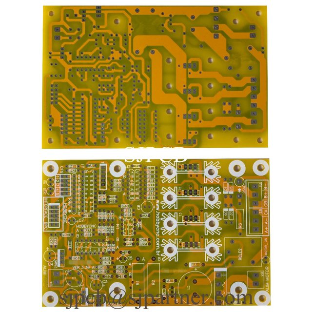 yellow solder mask white silkscreeen overlay printed circuit boardyellow solder mask white silkscreeen overlay printed circuit board pcb sample production