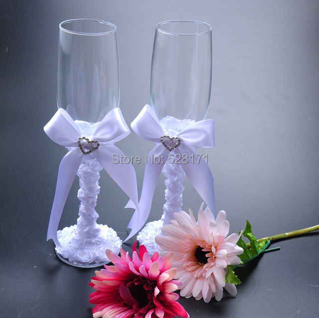 A Couple Of Wedding Personalized Groom Bride Champagne Glasses Toasting Glasse Flutes Wine