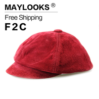 2017 High Quality Women Beret Caps Fashion Warm Winter Women Beret Hat Natural Hat Plain Solid