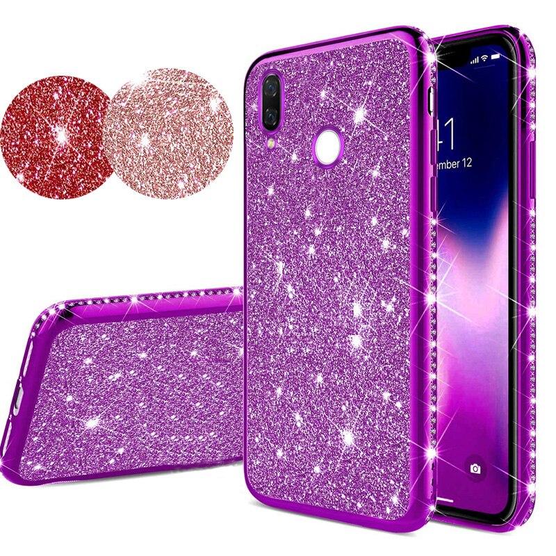 Glitter Diamond Bling Soft TPU Case Cover On Sfor Xiaomi Redmi Note 7 K20 Pro Mi 9 SE Shiny Silicon Phone Capa Coque Fundas