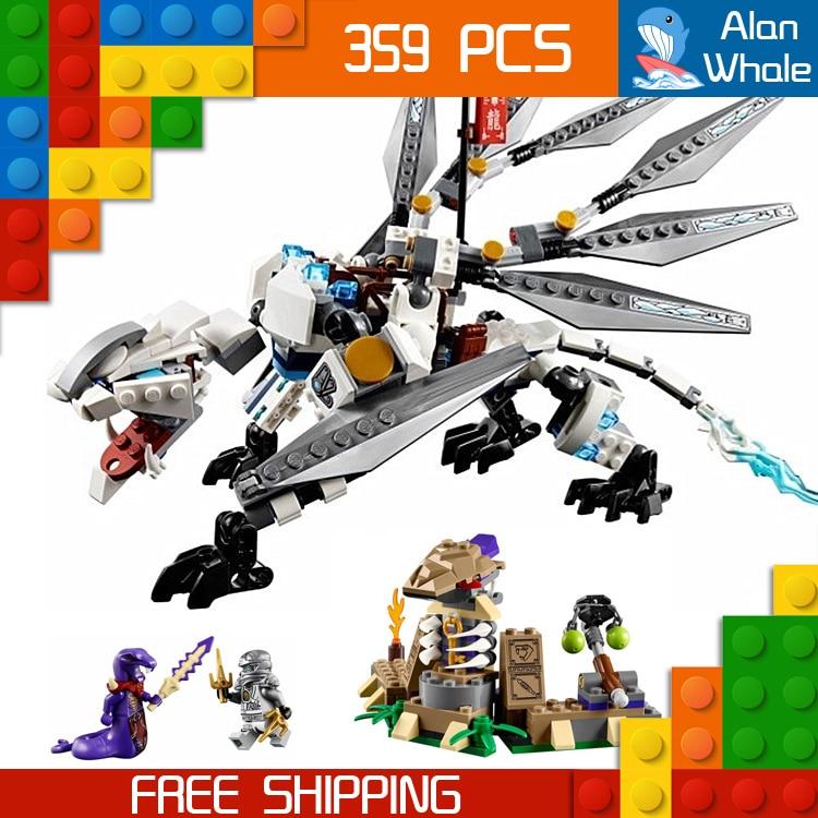 359Pcs Bela 10323 Titanium Dragon Zane Ninja Masters of Spinjitzu Building Blocks Toys Compatible With lego 1351pcs bela 06039 ninja samurai x cave chaos building blocks jay lloyd toys compatible with lego