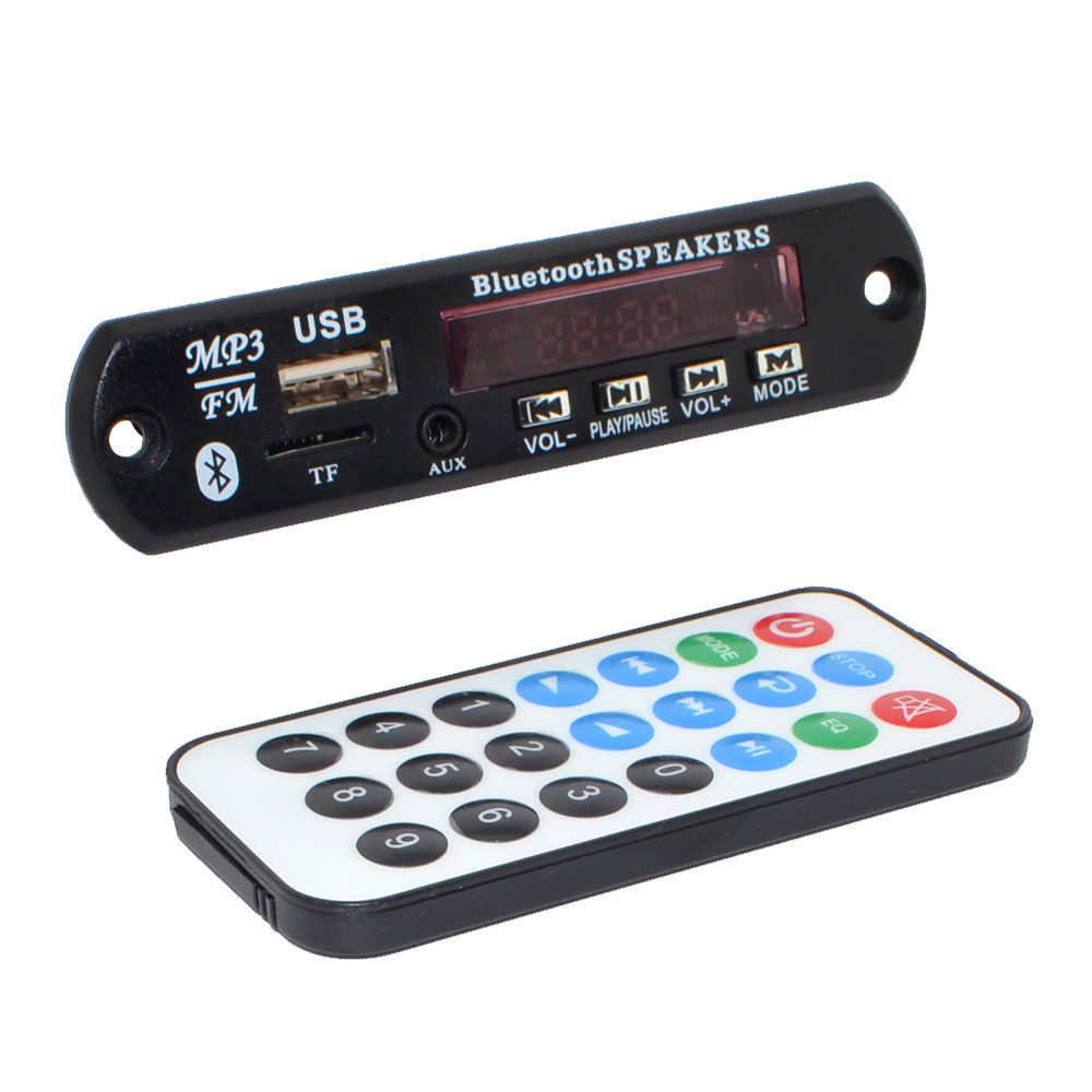 Bluetooth v3.0 + EDR Audio Module MP3 WMA Player MP3 decoder with Board Module w/ TF Card Slot / USB / FM / remote display tf card u disk mp3 format decoder board module amplifier decoding audio player