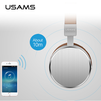 USAMS Original Bluetooth Headset Stereo Heavy Bass Microphone Wireless Headphones for Computer Mobile Phone Headphones Music 1