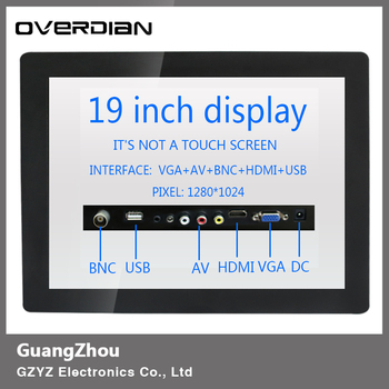 "19inch/19""VGA/HDMI/BNC/AV/USB Interface Industrial Control Lcd Non-Touch Screen Monitor Metal Shell Buckle Fixed 1280*1024"