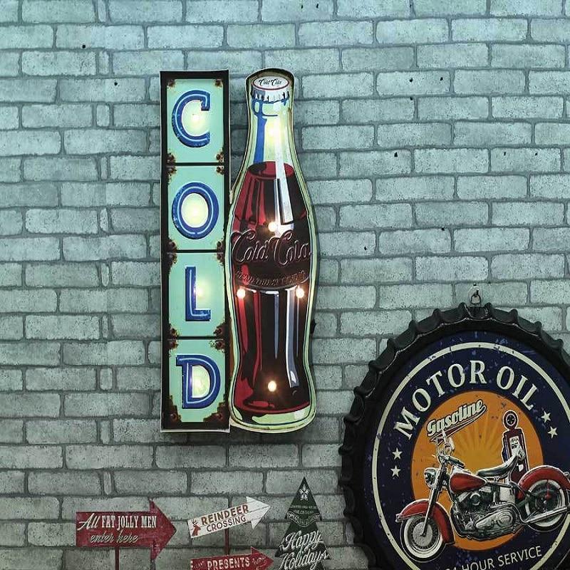 Vintage LED Neon Sign Cerveja Beer Lightbox Vintage Home decorative wall hanging Signage Cafe Bar placas decorativas Shabby chic
