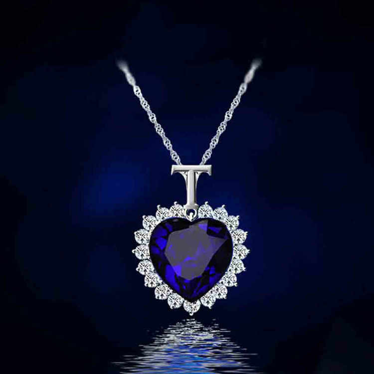 New Titanic Heart of the Ocean rhinestones Crystal Chain Necklace Pendant Plate Jewelry High quality  Woman Gift  CND137