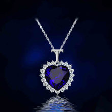 New Titanic Heart of the Ocean rhinestones Crystal Chain Necklace Pendant Plate Jewelry High quality Woman Gift CND137(China)