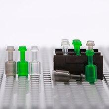 Akcesoria miejskie klocki butelka wina Mini Drink naczynie spożywcze figurka skrzynia na części zabawki prezentowe dla dzieci cegły wojskowe HOT MOC