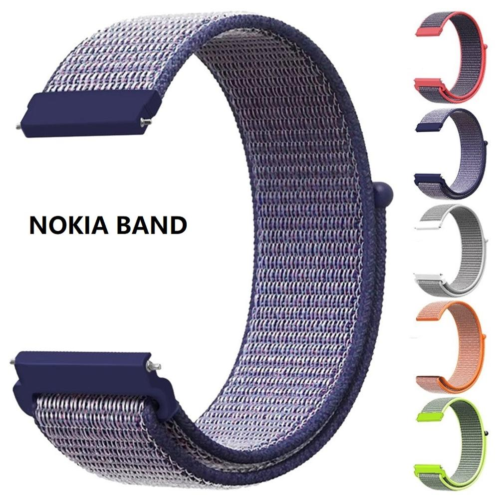 18 20mm Quick Release Nylon WatchBands Wrist Strap For Nokia Withings Steel HR 36MM 40MM Watchband For Nokia Steel Hr Band Strap