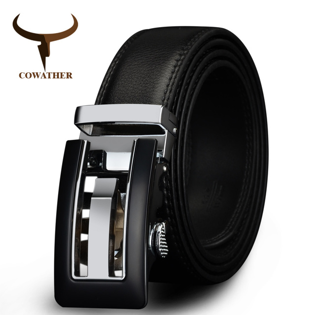 Genuine Leather Automatic Buckle belt For Men. Available Colors – Brown and Black