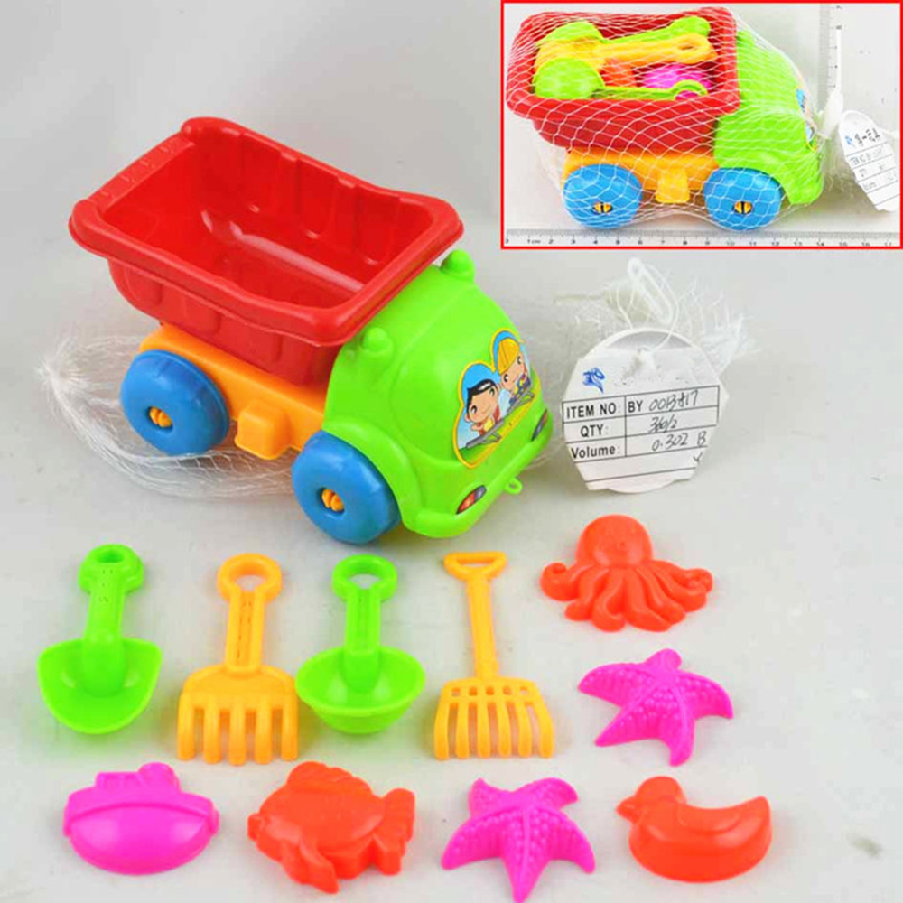 11pcs Summer Beach Sand Play Toys Sand Water Toys Kids Children Seaside Bucket Shovel Rake Kit Pools & Water Fun