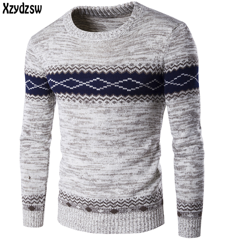 2016 New Pullover Men O-Neck Casual Sweater Brand Clothing Men Sweaters Cotton Slim Skinny Fit Pull Homme Winter Sweater For Men