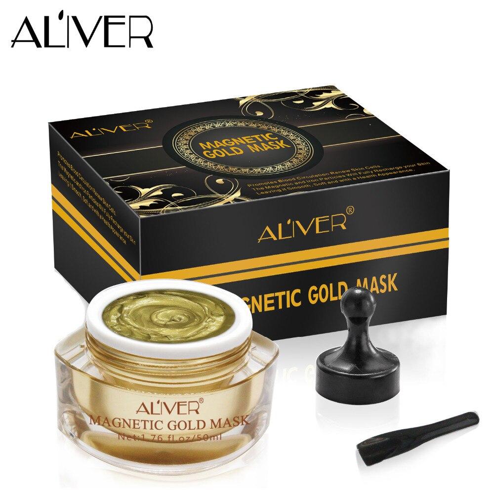 ALIVER Magnetic Gold Mask Face Mask Skin Care NEW 1pcs keen soft care mask