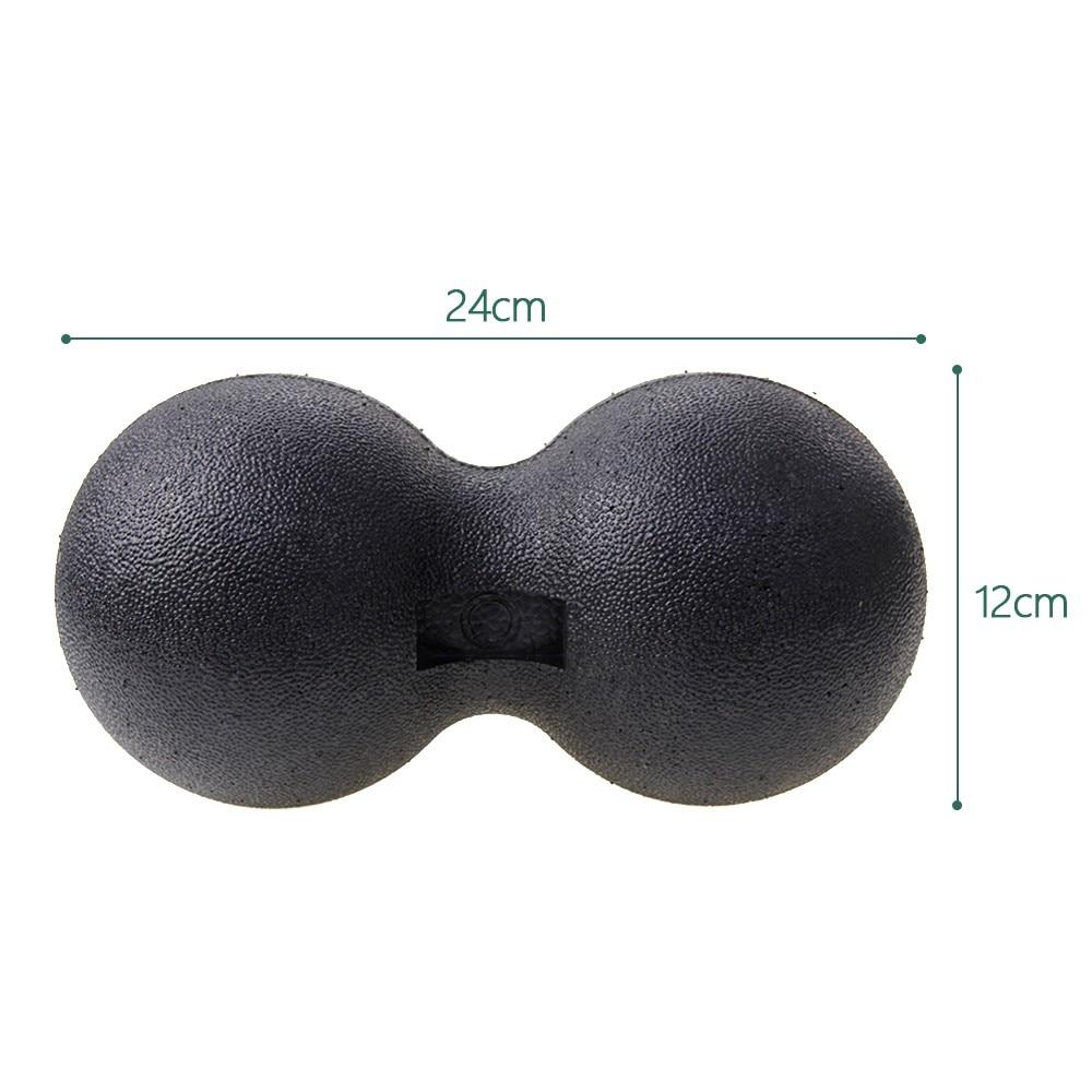 Арахисовый Массажный мяч, массажный мяч, роликовый ролик для пилатеса, йоги - Цвет: Черный