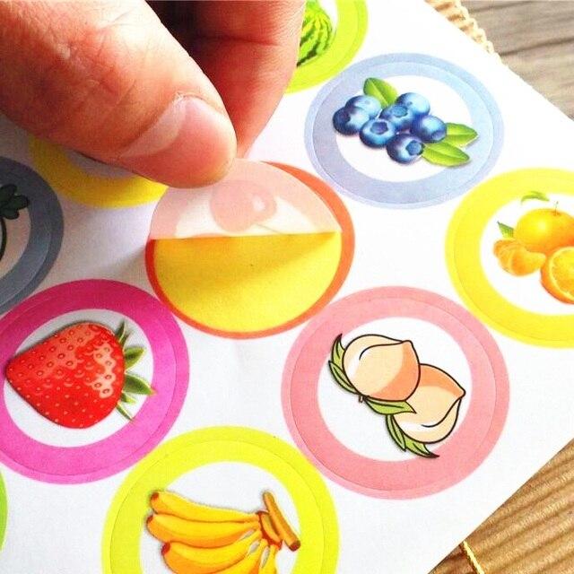 160 Dos Alunos pçs/lote Engraçado etiqueta DIY Delicioso Fruto Etiqueta do selo para o cozimento de Produtos Artesanais de Presente Redonda adesivo de vedação