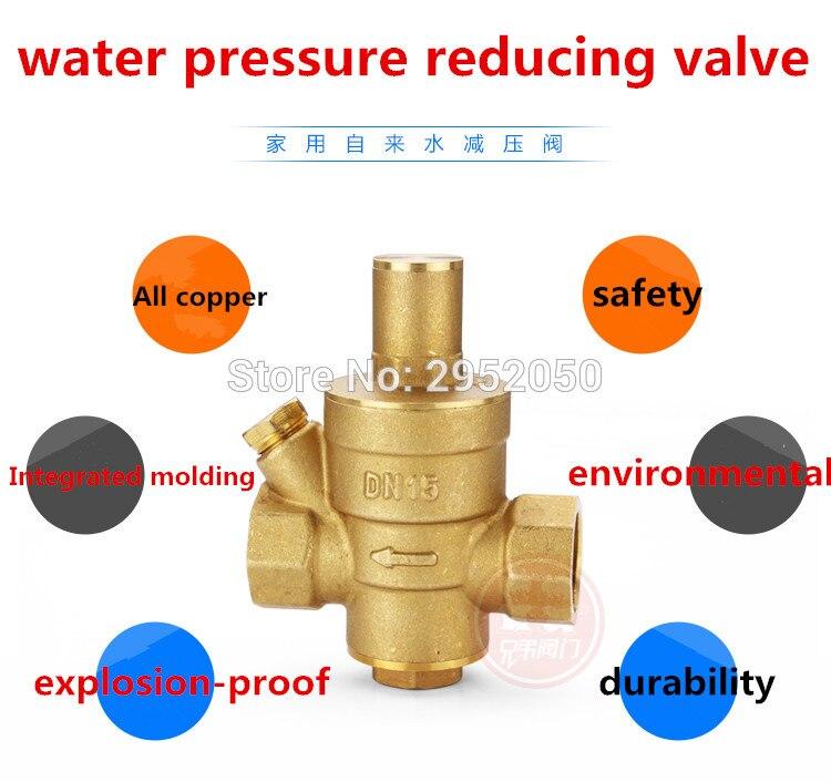 "DN20 3/4"" Pressure Gauge Pressure Maintaining Valve Brass Water Pressure Regulator Valves With Water Pressure Reducing Valve Prv"