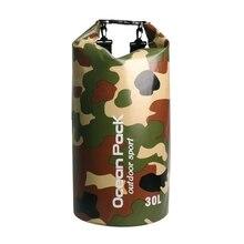 Camouflage Pack Swim Waterproof Drift Bag PVC Bucket Package Water Proof Backpack Beach Diving