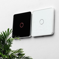 Free Shipping Jiubei Luxury White Crystal Glass Wall Switch Touch Switch Normal 1 Gang 1 Way