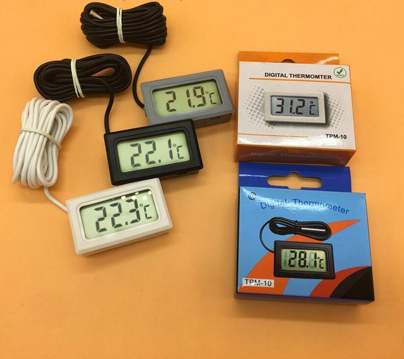 TPM-10 LED Digital display thermometer for fish tank Mini refrigerator Embedded vehicle-mounted mini e14 led refrigerator lights smd5050