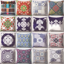Купить с кэшбэком Hongbo National Bohemia Style Cushion Cover Decorative Pillow For Car Covers Geometric Patterns Pillow Case Home Decor Pillowcas